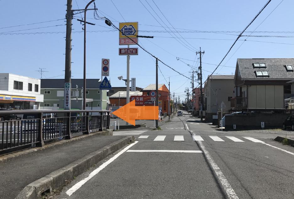 国道1号線(静岡側から)2
