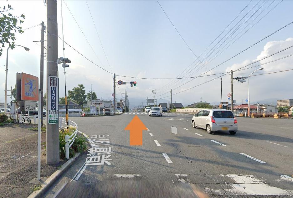 197号線(入江富士見線)の桜橋から1