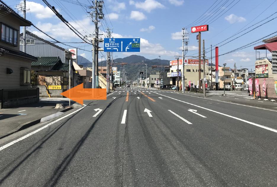 197号線(入江富士見線)の桜橋から2