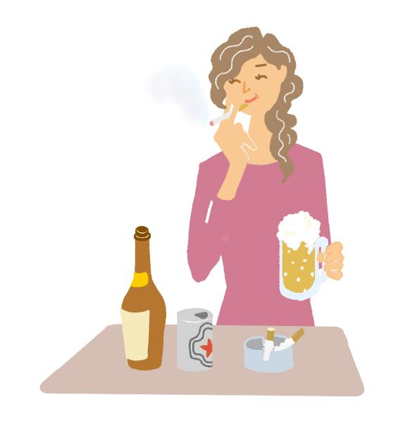 喫煙や過度の飲酒、病気などでのステロイド製剤の使用もリスク